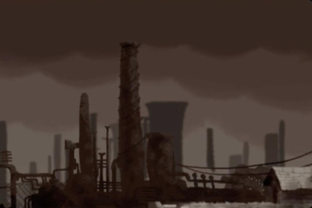 Ur den animerade kortfilmen Umbrella